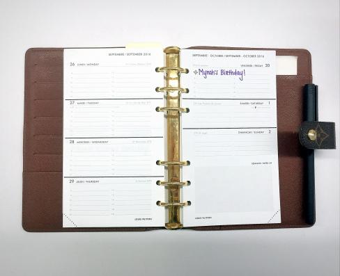 Calendar Organization - open LV agenda