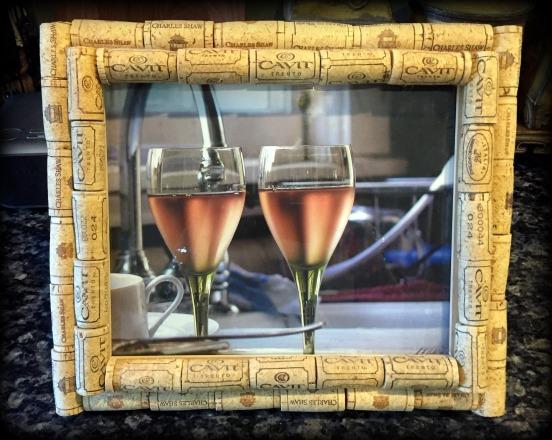 Cork Crafting - cork frame
