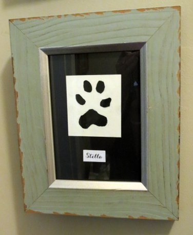 Framed Animal Paw Prints - Stella's Paw