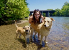 Happy Mother's Day - Donte', Stella, and me at the river (2)