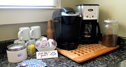 Tips for Hosting Overnight Guests - Coffee station