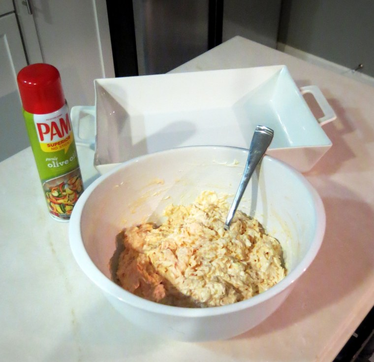 Buffalo Chicken Dip - Mixture