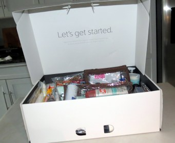 DIY - Wedding Emergency Kit - Xfinity box (interior)