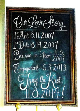 Large Framed Chalkboard - Main Image
