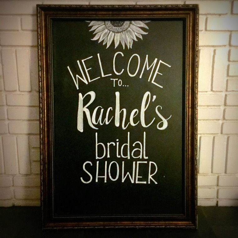 Large Framed Chalkboard - Rachel's Bridal Shower (2).JPG