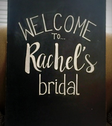 Large Framed Chalkboard - Rachels Bridal Shower (in progress) (2)