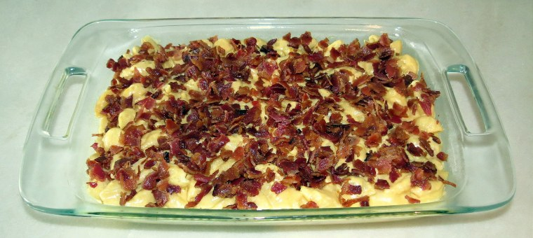 Bacon-Covered Crock-Pot Mac & Cheese - Add bacon