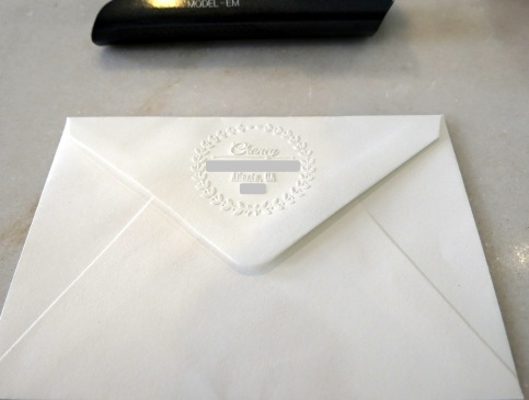 The Lost Art of Sending Thank You Notes - Embossed Return Address