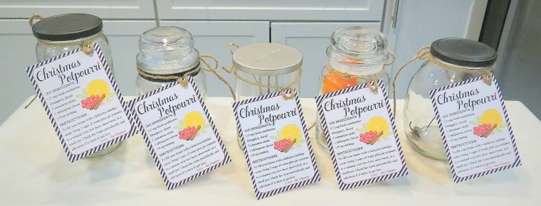 Chirstmas-Holiday Potpourri - Various types of jars.JPG